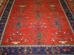 5.7 x 8' Persian Khamsebaf. Gorgeous colors and design. Sold. From Paradise Oriental Rugs.