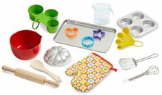 Buy Melissa & Doug Let's Play House Baking Play Set (Pretend Play Kitchen Accessories, 20 Pieces, Great Gift for Girls and Boys – Best for 7 and 8 Year Olds) Play Kitchen Accessories, Electronics Accessories, Pretend Play Kitchen, Pretend Food, Baking Set, Baking Tools, Baking Cups, Melissa & Doug, Play Food