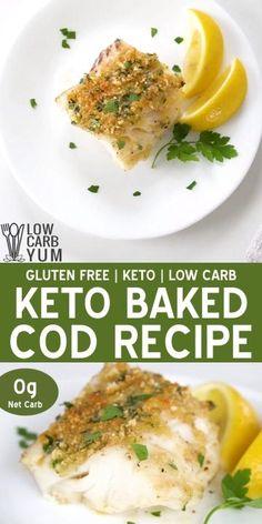 Cod Fish Recipes, Baked Cod Recipes, Low Carb Recipes, Healthy Recipes, Healthy Meals, Healthy Eating, Seafood Casserole Recipes, Seafood Recipes, Vegetarian Recipes