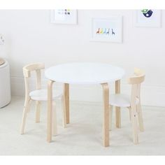 Kids Boston Birch Wood Table And Chairs Kid Chair