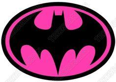 Batman Logo Pink T Shirt Iron on Transfer | eBay