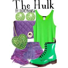 The Hulk, created by lalakay on Polyvore #disney