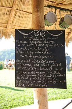 love this menu idea