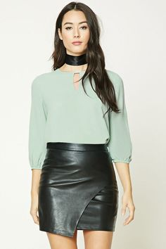 Cutout Front Blouse