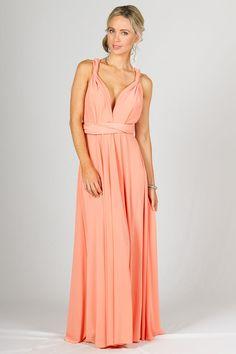 Multi Way Wrap Maxi Dress - Sherbet - P.S. Frocks