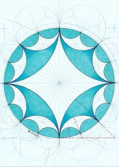 #hyperbolc #symmetry #geometry #mathart #regolo54 #escher #tessellation #pencil #disk #circle #fractal
