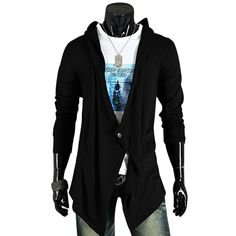 2016 New Brand Cardigans Men Long Sweater Solid Design Men's V neck Sweaters Fashion Cotton Slim Fit Man sweater
