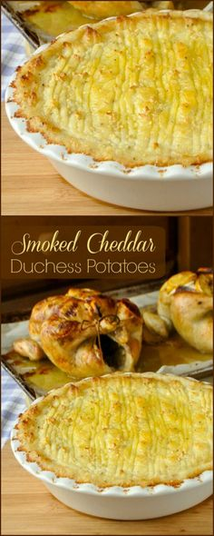 Smoked Cheddar Duchess Potatoes - one of the most luxurious, indulgent and most flavourful potato side dishes you will ever sample.