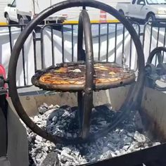 A gyroscope BBQ grill – Back yard grill Fire Pit Grill, Fire Pit Backyard, Bbq Grill, Grilling, Campfire Grill, Outdoor Fire, Outdoor Decor, Perfect Grill, Built In Grill
