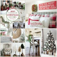 farmhouse christmas decorating ideas | Farmhouse Christmas Decor Ideas. Beautiful Christmas decorations for ...