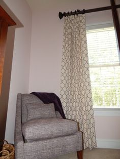 Custom Window Treatments Atwood Side Chair By: Andrea Ciano Aciano@pineville.ethanallen.com Photo Credit: Andrea Ciano Ethan Allen, Custom Window Treatments, Design Process, Side Chairs, Photo Credit, Curtains, Interior Design, Furniture, Home Decor