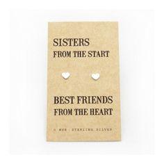 Sisters zilveren oorbellen op Weddingdeco.nl