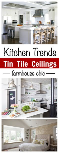 Kitchen Trends: Tin Ceiling Tiles are a simple way to make a big impact and affordable way to transform any home and kitchen. via @sochiclife