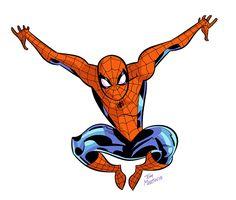 Spider-Man by Tom Martin Spiderman Poses, Spiderman Vs Superman, Amazing Spiderman, Marvel Art, Marvel Comics, Comic Movies, Comic Books, Comic Art, Spider Verse