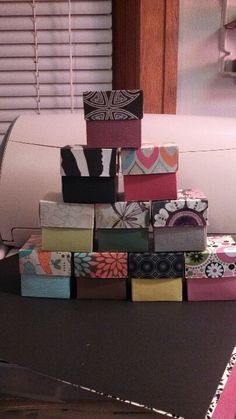 Boxes using Martha Stewart scoring board