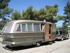 1960s Geographic 26ft molded fiberglass Travel trailer vintage camper