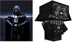 Blog Paper Toy papertoy Dark Vador pic Cubeecraft Dark Vador