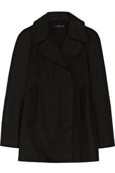The Row Ariale cotton-shantung coat.   Not that warm looking and wish it were wool not cotton but I like the cut and the craftsmanship.