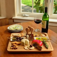 Picnic at Ascot Sherborne Bamboo Cheese Board Set with 4 Tools cheese party Wine And Cheese Party, Wine Cheese, Appetizer Recipes, Appetizers, Appetizer Party, Cheese Board Set, Picnic At Ascot, Charcuterie Platter, Serving Dishes