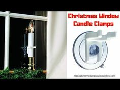 Easy way to put your Christmas Candles For Windows Without Sills in less than 5 minutes. If your windows have no sills you can still put candles on them. Christmas Window Decorations, Christmas Candles, Window Candles, Window Sill, Indoor Outdoor, Windows, Holiday, Easy, Vacations