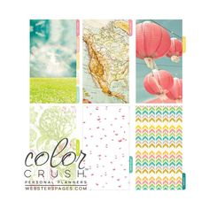 Life is Beautiful, Color Crush Personal Planner Divider Set Kit (Sky)