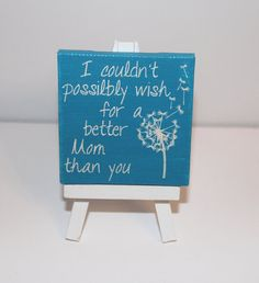Items similar to Mom/Mother Mini Canvas Art - 'Mom Wish' on Etsy Diy Art Projects Canvas, Cool Art Projects, Canvas Crafts, Diy Canvas, Canvas Ideas, Small Canvas Art, Cute Canvas, Mini Canvas Art, Hand Painted Canvas