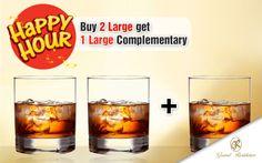 Happy Hours : Buy 2 Large... Get 1 Large Complementary...  For Details : 044 - 24767611 / 99625 39511 #GrandResidence #GrandResidencePorur #Porur #Chennai