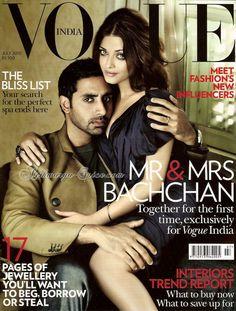 Aishwarya and Abhishek on Vogue India