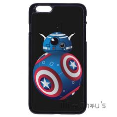 For iphone 4/4s 5/5s 5c SE 6/6s 7 plus ipod touch 4/5/6 back mobile cellphone cases cover Star Wars BB8 Droid Captain America