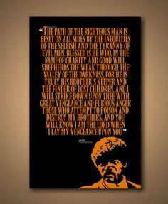 PULP FICTION  JULES Quote Poster by ManCaveSportsSigns on Etsy, $18.00