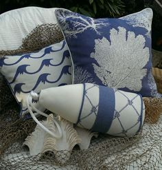 Karen Robertson - Royalty Collection - Nautical Pillows | Coastal Home Pillows | Beach Pillows