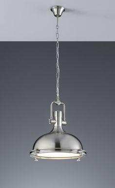 BOSTON Trio - závesné svietidlo - matný nikel+sklo - ø 390mm
