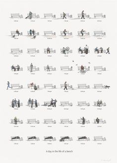 A day in the life of a bench #feeldesain #poster