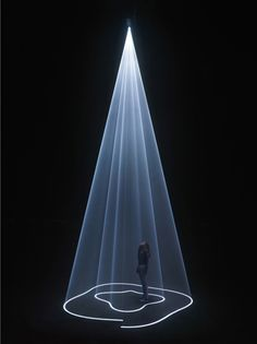 """Anthony McCall ~ """"Breath: The Vertical Works"""" at Hangar Bicocca, Milan, Italy 2009"""