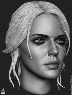 ArtStation - Ciri done for custom witcher series of action figures , Hossein Diba
