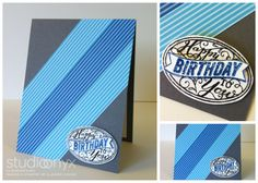 Masculine Birthday Card: StudioOnyx.net #stampinup