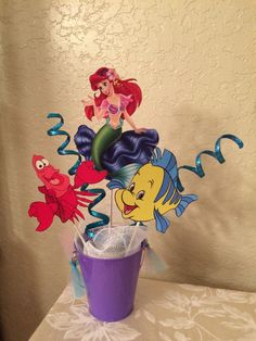 The Little Mermaid Centerpiece by BellissimaParty on Etsy https://www.etsy.com/listing/264585023/the-little-mermaid-centerpiece