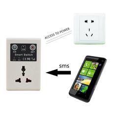 Comercio al por mayor de 220 v Enchufe de LA UE Del Teléfono Móvil Del Teléfono PDA GSM Mando a distancia Socket Poder Smart Switch interruptor interruptores Caliente