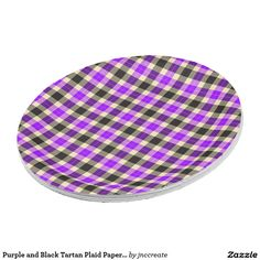 Purple and Black Tartan Plaid Paper Plates  sc 1 st  Pinterest & Neon Green and White Checkered Paper Plates | Anytime Party Supplies ...