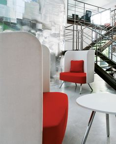 Felt devider screens, a creative way of acoustic treatment #waiting #area #Blog_Sesta