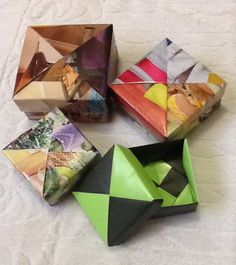 Caixas de papel, técnica origami