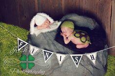 unique twins newborn photo
