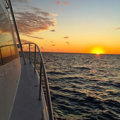 Sunsets on water at the Great Barrier Reef #sunsets #greatbarrierreef #gbr #topless #toplesswhitsundayfishingadventures #eureka42 #gameboat #iph6 #saltlife #lofeonthewater #queensland #australia by whitsunday_lover http://ift.tt/1UokkV2