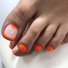 Adorable Toe Nail Designs For This Summer 51 Adorable Toe Nail Designs For This Summer Pedicure Designs, Creative Nail Designs, Toe Nail Designs, Cute Toe Nails, Toe Nail Art, Neon Toe Nails, Orange Toe Nails, Hair And Nails, My Nails