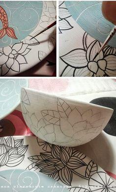 pintando cerámica