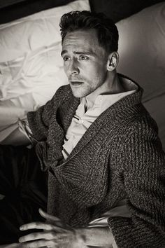 Tom Hiddleston. That sweater is made of BOYFRIEND MATERIAL