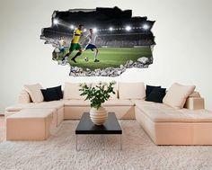 New  Soccer Room D Wandtattoo Fu ball Fu ball Kinderzimmer Gruppenboard Pinterest