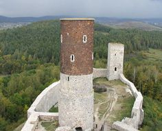 The Świętokrzyskie Mountains: View from the castle tower in Chęciny near Kielce.