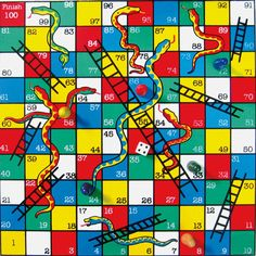 Chutes And Ladders Game Board Template Classical snakes and ladders