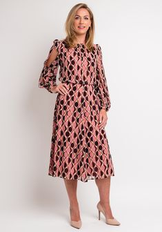 Pink Midi Dress, Dresses With Sleeves, Long Sleeve, Casual, Wedding, Trends, Fashion, Valentines Day Weddings, Moda